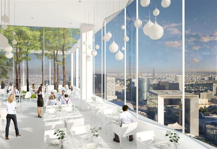 La tour des jardins de l arche paris futur - Piscine jean boiteux paris ...