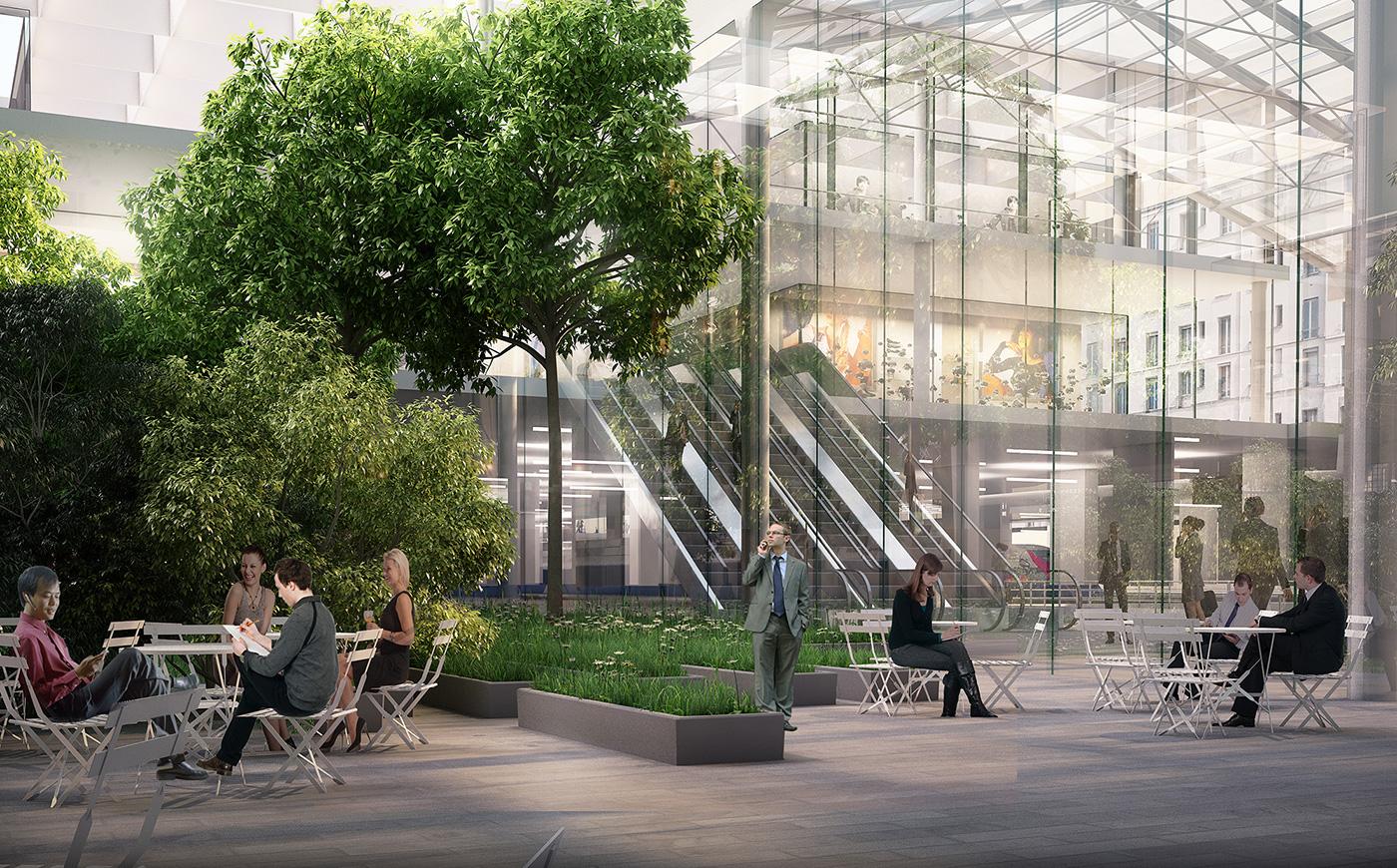 la nouvelle gare du nord paris futur. Black Bedroom Furniture Sets. Home Design Ideas