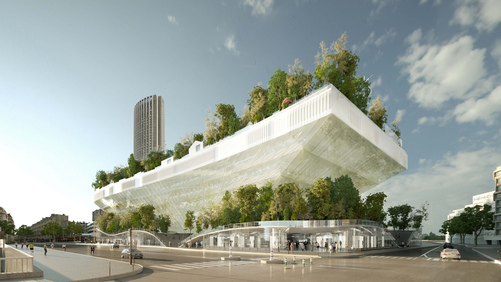 Mille arbres porte maillot paris futur for Architecture projet