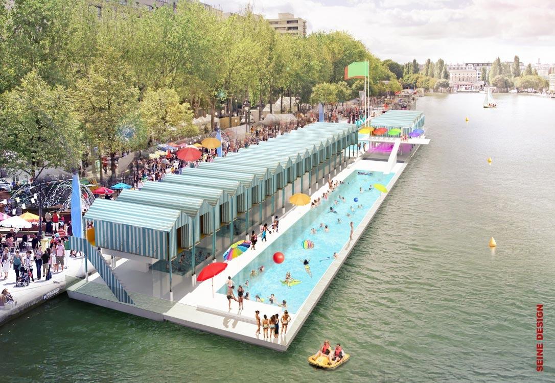 Am nagement du bassin de la villette paris futur - Bassin bois concept asnieres sur seine ...