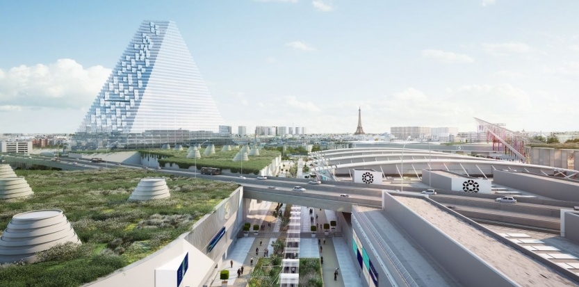 La tour triangle paris futur for Porte m porte de versailles