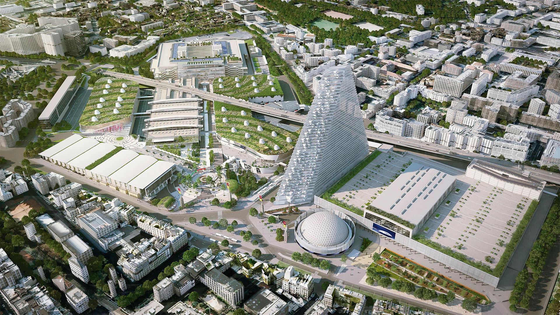La tour triangle paris futur - Parc des expositions de la porte de versailles ...