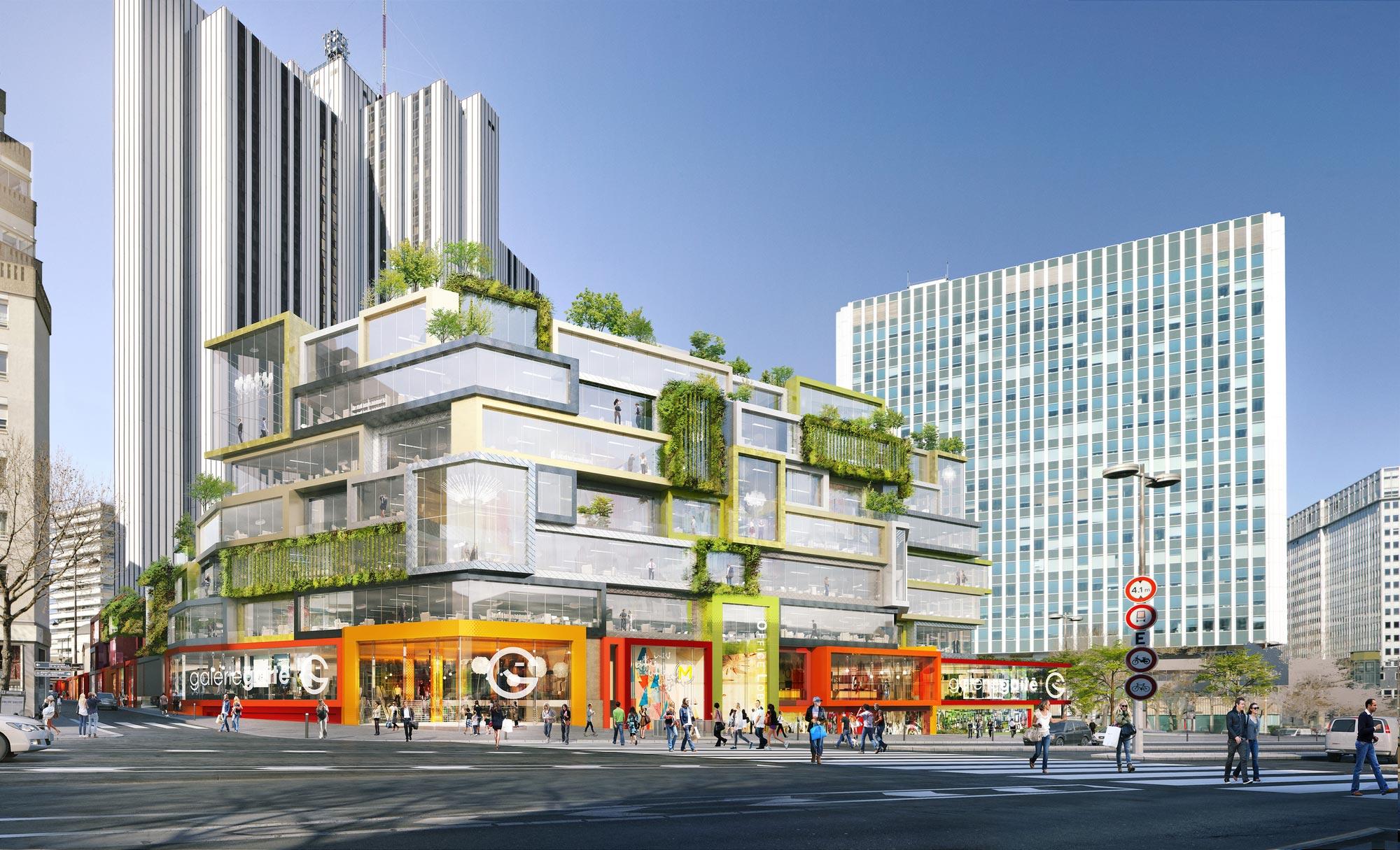 projet du times square parisien a montparnasse avec l ilot gaite pour remplacer le centre. Black Bedroom Furniture Sets. Home Design Ideas