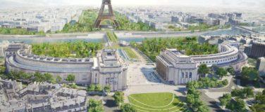 Nouveau Grand Jardin entre le Trocadéro et la Tour Eiffel